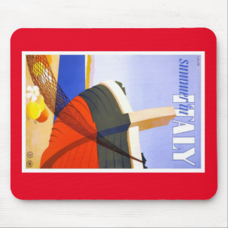 Italian tour poster mouse pad