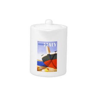 Italian tour poster teapot