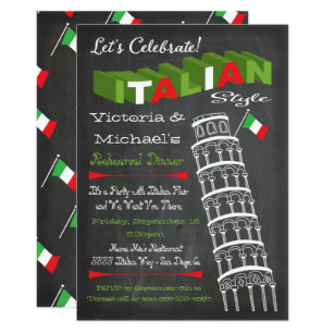 Italian birthday cards greeting photo cards zazzle italian tower of pisa rehearsal dinner birthday card bookmarktalkfo