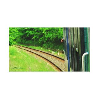 Italian Trains, Driver's Hand Wrapped Canvas Print