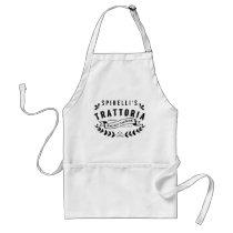 Italian Trattoria Personalized Restaurant Logo Adult Apron