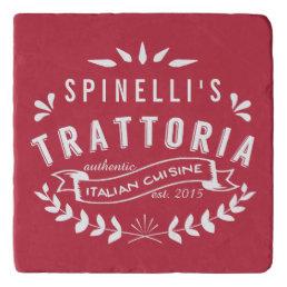 Italian Trattoria Personalized Vintage Restaurant Trivet