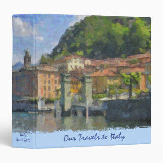Italian Travel and Recipe Binder