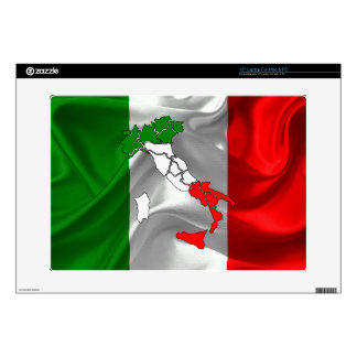 """Italian Tricolor boot 15"""" Laptop Decal"""