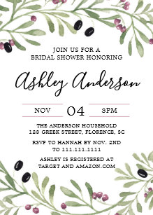 Tuscan invitations zazzle italian tuscan bridal shower invitation filmwisefo