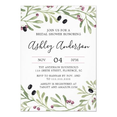 tuscan bridal shower wine themed invitation zazzlecom