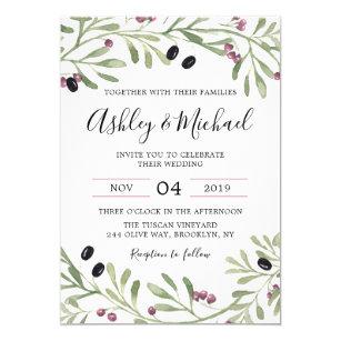 italian tuscan greek wedding invitation