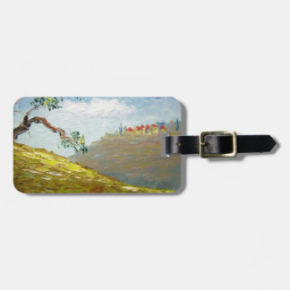 Italian Tuscany Hillside Town Luggage Tags