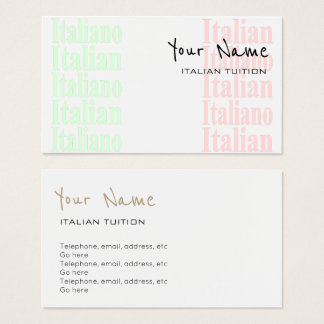 Italian Tutor Business Cards