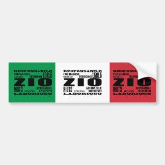 Italian Uncles : Qualities Car Bumper Sticker