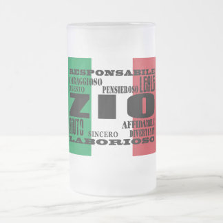 Italian Uncles : Qualities Frosted Glass Beer Mug