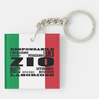 Italian Uncles : Qualities Keychain