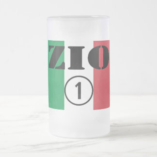 Italian Uncles : Zio Numero Uno Frosted Glass Beer Mug