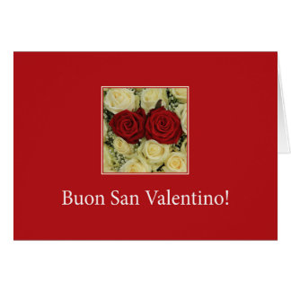 Italian Valentine's Day Roses Card