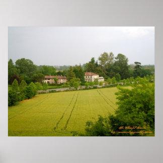 Italian Villa Veneto Region Poster