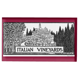 Italian Vineyards - 1919 design by M. Campion Place Card Holder