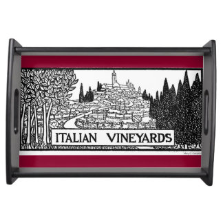 Italian Vineyards - 1919 design by M. Campion Serving Tray