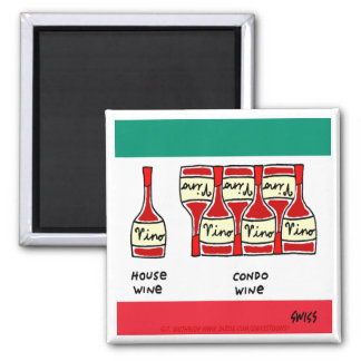 Italian Vino House Wine Lovers Cartoon Funny Magnet