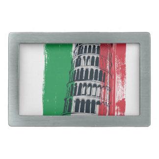 italian vintage statue rectangular belt buckle