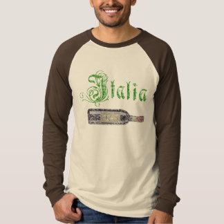 Italian Vintage Wine Bottle Long Sleeve Mens Shirt