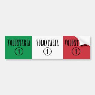 Italian Volunteers : Volontaria Numero Uno Bumper Sticker
