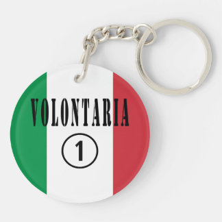 Italian Volunteers : Volontaria Numero Uno Keychain