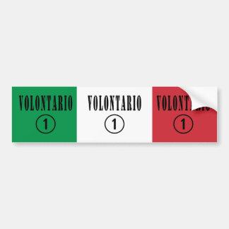 Italian Volunteers : Volontario Numero Uno Car Bumper Sticker