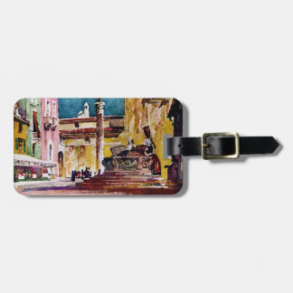 Italian Watercolor Piazza Tag For Luggage