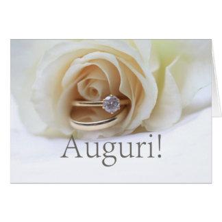 italian  wedding congratulations greeting card