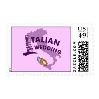 Italian Wedding Invitation Postage Stamps