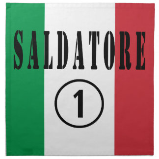 Italian Welders : Saldatore Numero Uno Printed Napkin