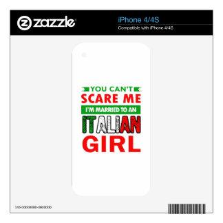 Italian Wife Wife iPhone 4S Decals