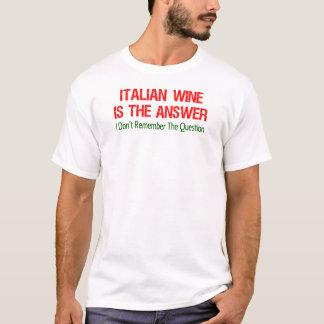 Italian Wine Answer T-Shirt