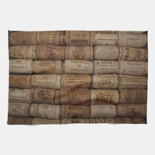 Italian Wine Cork Collection Bar Towel at Zazzle