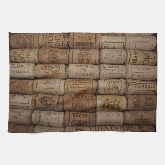 Italian Wine Cork Collection Bar Towel Zazzle Com