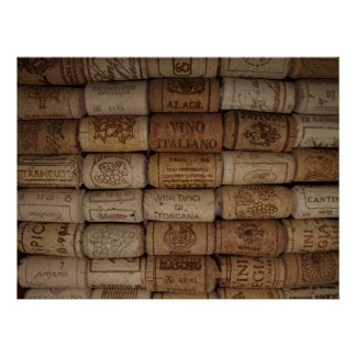 Italian Wine Cork Collection Poster