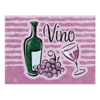 Italian Wine Recipe Card Post Card