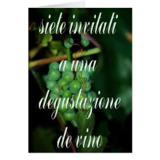 Italian Wine Tasting Invite Card