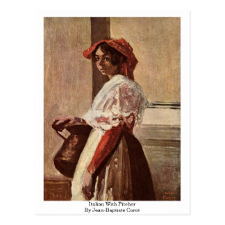 Italian With Pitcher By Jean-Baptiste Corot Postcard