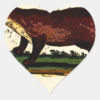Italian Wolverine Heart Sticker