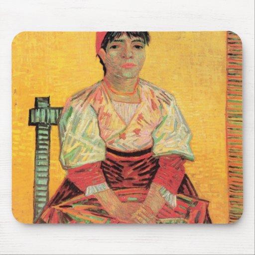 Italian Woman Agostina Segatori by van Gogh Mousepads