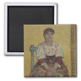 Italian Woman by Vincent Van Gogh 2 Inch Square Magnet