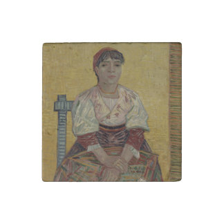 Italian Woman by Vincent Van Gogh Stone Magnet