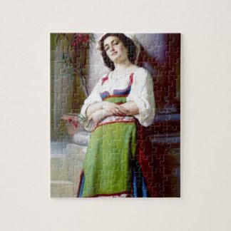 Italian Woman Painting Jigsaw Puzzle