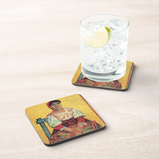 Italian Woman portrait painting  Vincent van Gogh Beverage Coaster