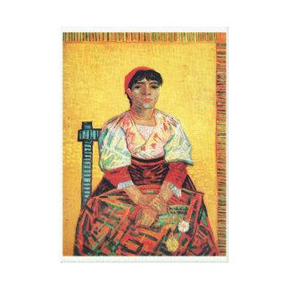 Italian Woman portrait painting  Vincent van Gogh Stretched Canvas Print