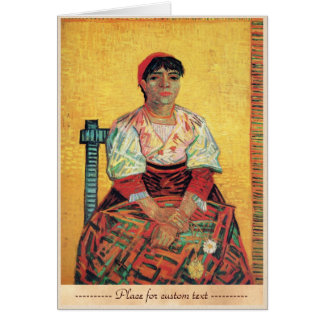 Italian Woman portrait painting  Vincent van Gogh Greeting Cards