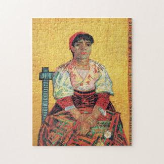 Italian Woman portrait painting Vincent van Gogh Puzzles