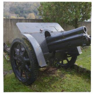 Italian World War Two Howitzer Printed Napkin