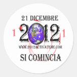 italiano 2012 pegatina redonda